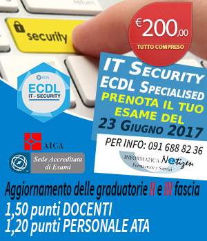 Informatica Netizen - ECDL SPECIALISED IT SECURITY