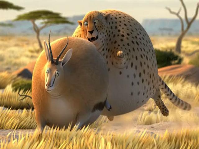 """""""rollin safari animali obesi in corti animati il"""