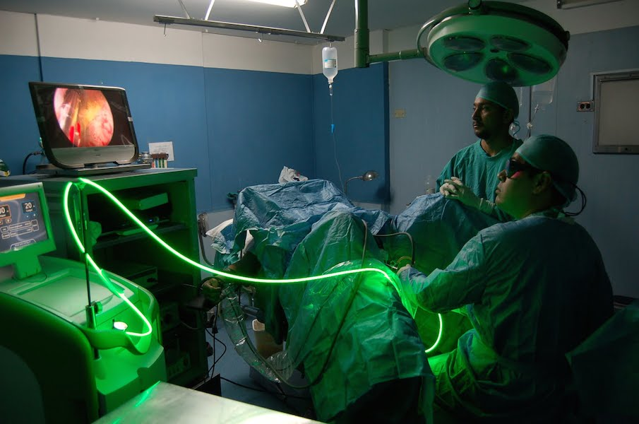 ipertrofia prostatica laser verde ospedali roma