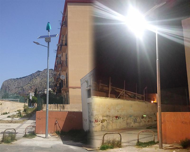 Palermo si testa il primo palo della luce a led eolico fotovoltaico